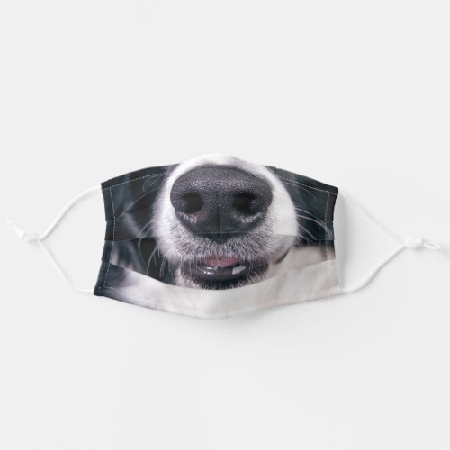 Smiling Border Collie Funny Dog Reusable Adult Cloth Face Mask
