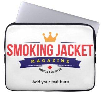 """Smoking Jacket Magazine 13"""" Laptop Bag"""