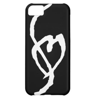 Smut Mark White on Black iPhone 5c Case