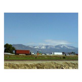 Snow On The San Bernardino Mountains Post Cards