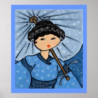 Snow Princess Poster print