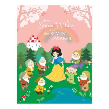 Snow White and the Seven Dwarfs Cartoon Postcard
