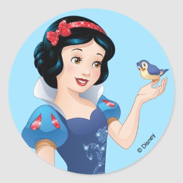 Snow White | Besties Rule Classic Round Sticker