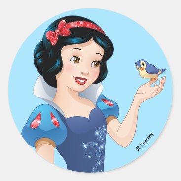 Snow White | Besties Rule Classic Round Sticker