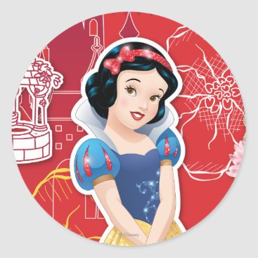 Snow White - Cheerful and Caring Classic Round Sticker