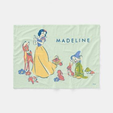 Snow White & Dopey with Friends Fleece Blanket
