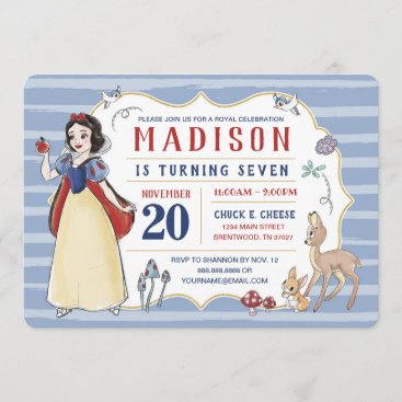 Snow White | Watercolor Birthday Invitation