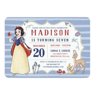 Snow White | Watercolor Birthday Invitation