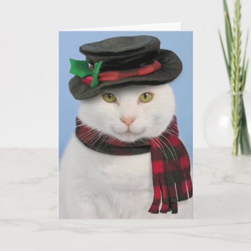 Snowcat Christmas Card