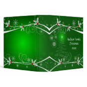 Snowflakes Holly Tree Photo Album binder