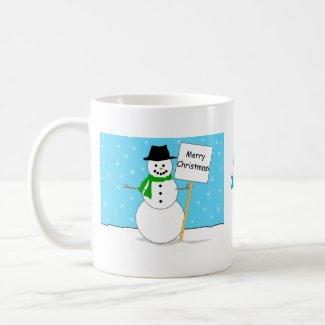 Snowman Christmas Mug mug