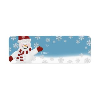 Snowman Gift Labels