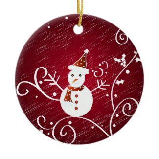 Snowman holly - Ornament ornament