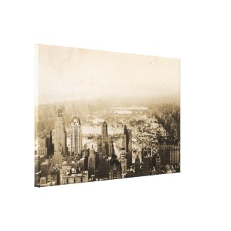 Snowy Central Park New York City Photograph Canvas Print