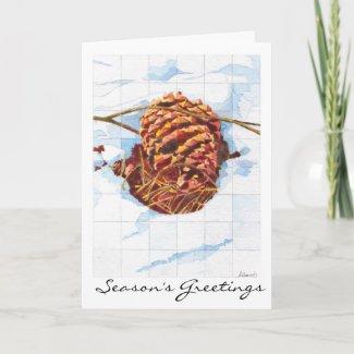 Snowy Pine Cone card