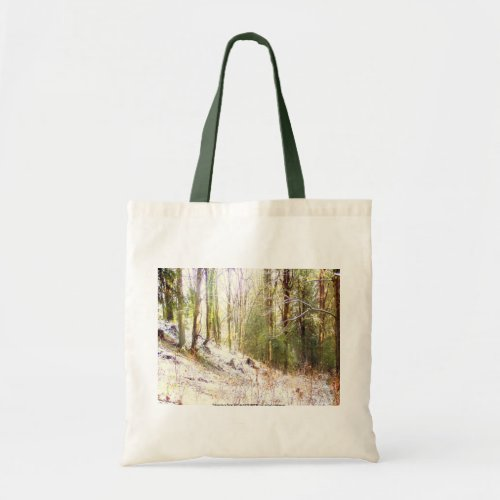 Snowy Sunlit Forest Glade #2 bag