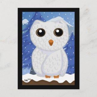 Snowy White Owl Postcard postcard