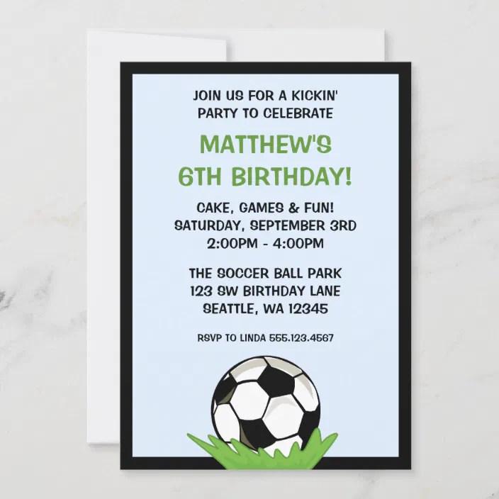 Soccer Ball Birthday Party Invitations Zazzle Com