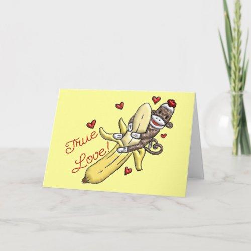 Sock Monkey Valentine Merchandise Holiday Card