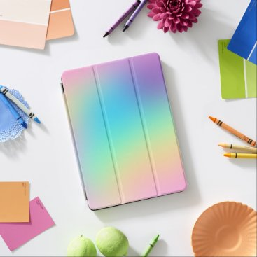 Soft Prismatic Rainbow Gradient iPad Pro Cover