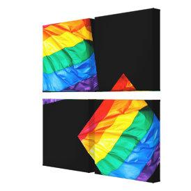 Solid Pride - Gay Pride Flag Closeup Canvas Print