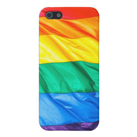 Solid Pride - Gay Pride Flag Closeup Case For iPhone SE/5/5s