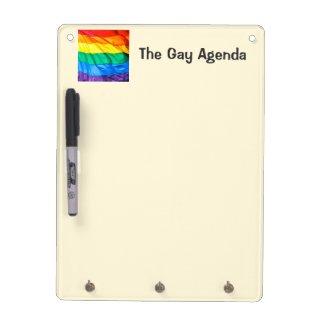 Solid Pride - Gay Pride Flag Closeup Dry-Erase Whiteboard