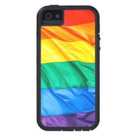 Solid Pride - Gay Pride Flag Closeup iPhone SE/5/5s Case