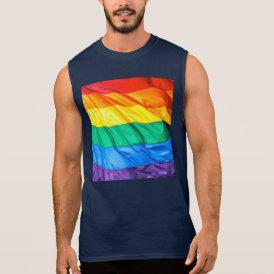 Solid Pride - Gay Pride Flag Closeup Sleeveless Shirt