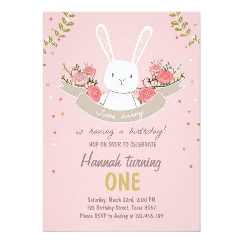 Some Bunny Easter Spring Birthday Invitation
