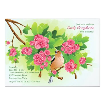 Songbird Birthday Party Invitation