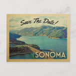Sonoma Save The Date Vintage Postcards