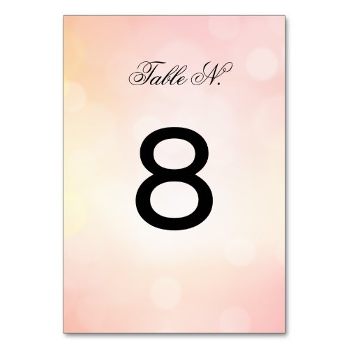 Sophisticated PInk  Glitter luxury WEDDING Table Number