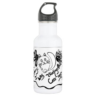 Sorry, I Was Thinking About Cats Again 18oz Water Bottle