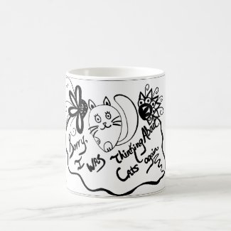 Sorry, I Was Thinking About Cats Again Classic White Coffee Mug