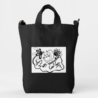 Sorry, I Was Thinking About Cats Again Duck Canvas Bag