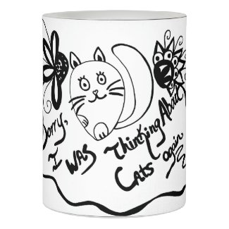 Sorry, I Was Thinking About Cats Again Flameless Candle