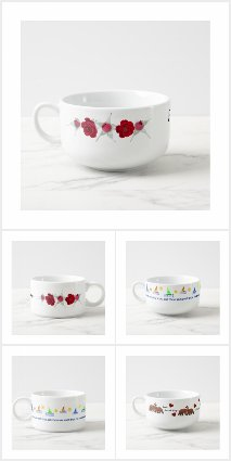 Soup Mugs and Chili Bowls by Ms. Contrary