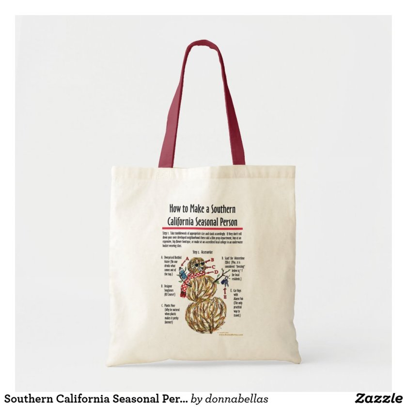 Southern California Seasonal Person Bag