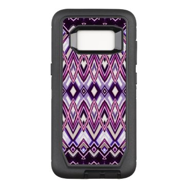 Southwestern Style Purple White Black OtterBox Defender Samsung Galaxy S8 Case