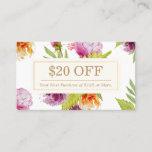 SPA Beauty Salon Floral Art Deco Discount Coupon