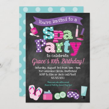 Spa Party Invitation - Kids Birthday Spa Party