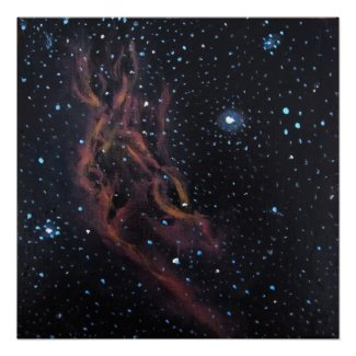 Space Art Poster - California Nebula by Alizey print