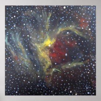 Space Art Poster - Wizard Nebula print