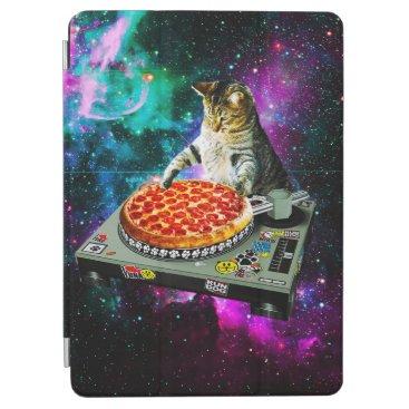 Space dj cat pizza iPad air cover