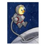 Cute & Fun Spacewalk Chickie Postcard