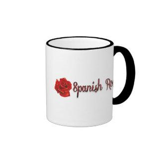 Spanish Rose Red and Black Text Coffee Mug
