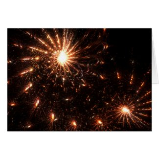 Sparkling fireworks - Card card