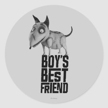Sparky: Boy's Best Friend Classic Round Sticker