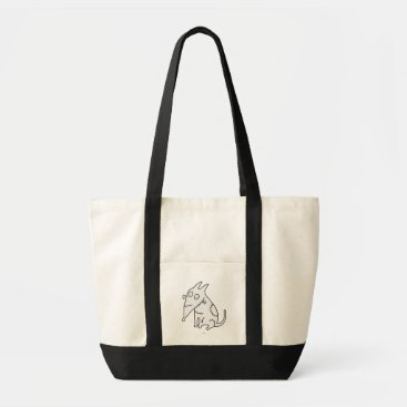 Sparky Sitting White Tote Bag